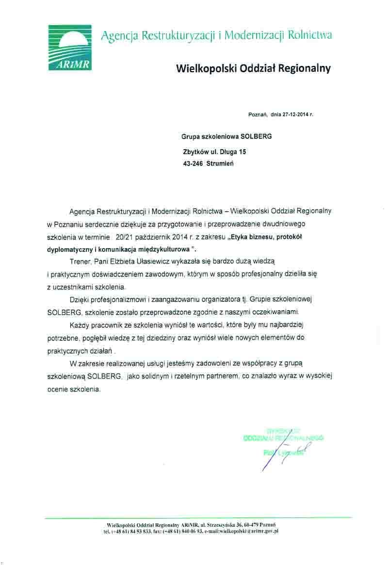 ARIMR Wielkopolska_Etykieta w biznesie